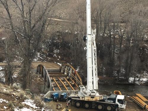 Setting Bridge in Parshall, Colorado