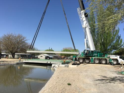 Setting bridge in Grand Junction at the Canal 29.5 Rd